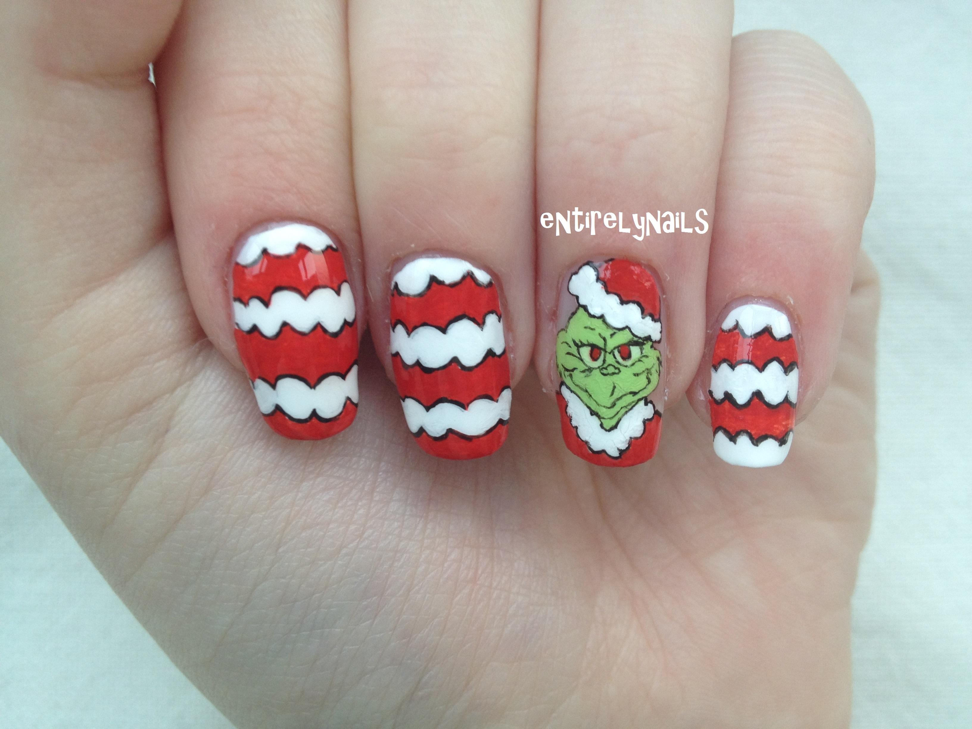 Nail Art The Grinch