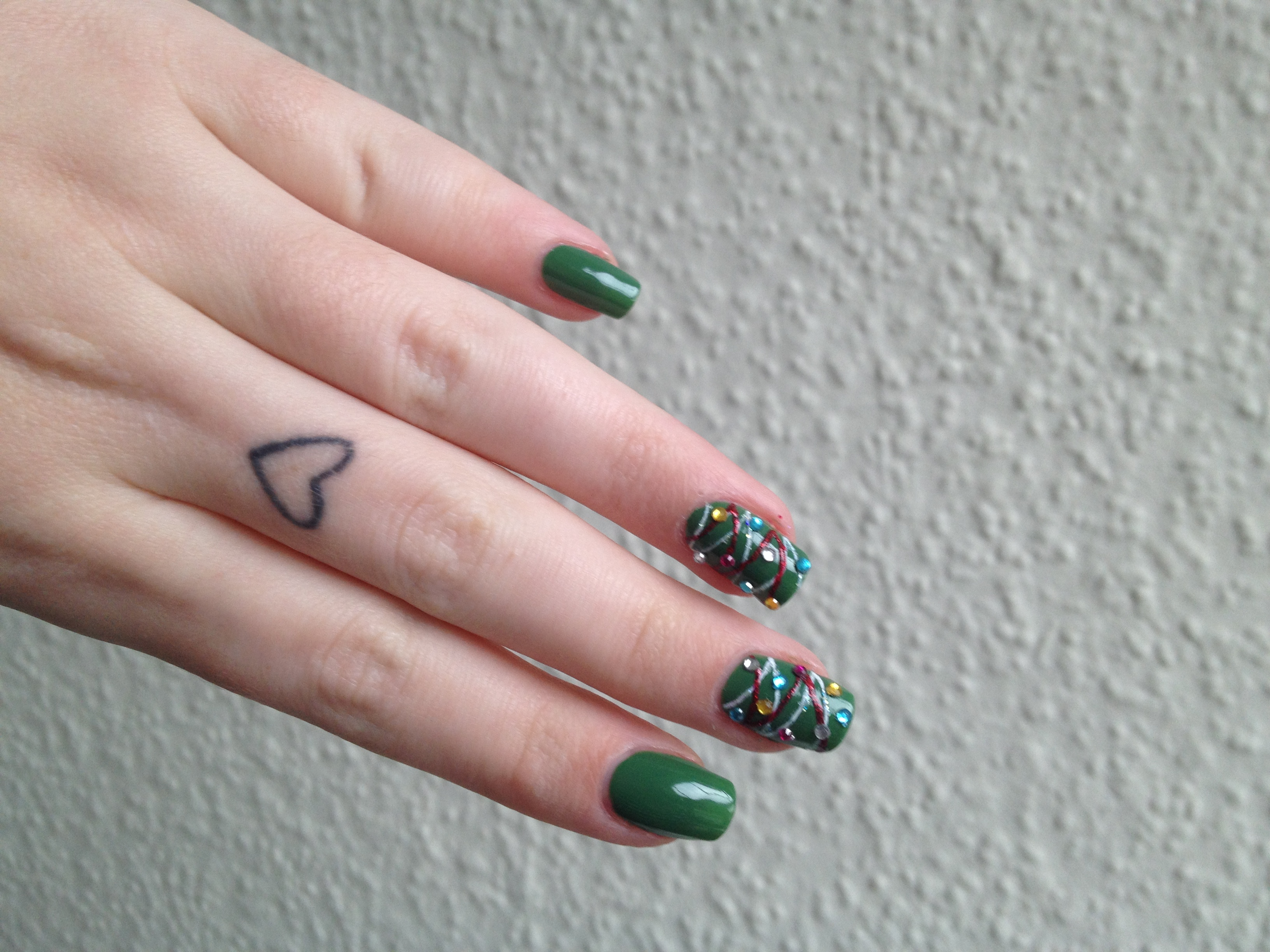 Nail Art Kerst Christmas Tree Maaike